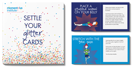 Settle Your Glitter Cards